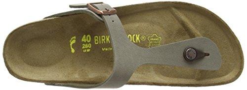 Birkenstock Classic Gizeh Birko-Flor, Unisex-Erwachsene Zehentrenner, Grau (Stone), 37 EU -