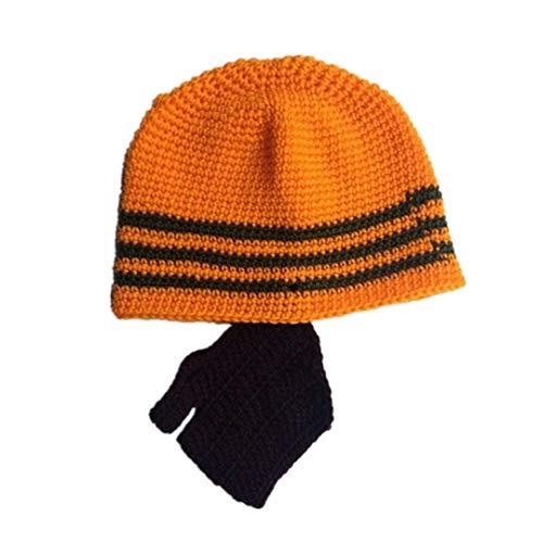 Neuheit Lustiges Kind Handmade Gestrickte Schnurrbart Hut Bart Mützen Gesicht Wärmer Maske Winter Warme Caps Unisex 5 for ()