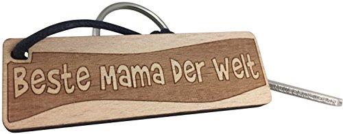 endlosschenken Schlüsselanhänger Beste Mama der Welt aus Holz Geschenk Muttertag Muttertagsgeschenk