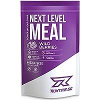 Runtime Meal | Sustituto de las comidas que proporciona saciedad, energía, concentración | 25 vitaminas, minerales y nutrientes | 150g (Wild Berries)