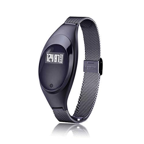 YYH Pulsera Inteligente oxímetro de Ritmo cardíaco Reloj de vigilancia de sueño Impermeable IP67, Tres Colores Opcionales 51.3 x 23.8 x 13.1 mm Reloj Inteligente (Color : Negro)
