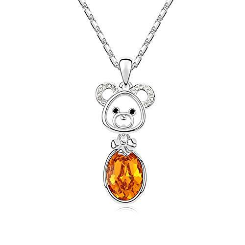 Halskette mit Anhänger Affe Kristall von Frauen Kinder Kostüm Schmuck, metall, Crystal Topaz, Einheitsgröße