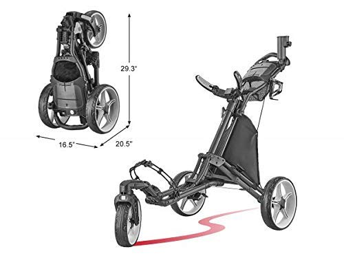Tour-Made Caddytek Ez Quickfold V8 Swivel 3 Vélo Golf...