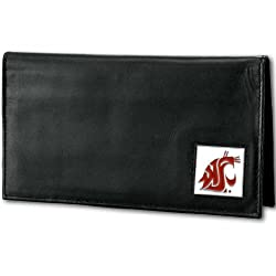 NCAA Washington State Cougars Deluxe Leather Checkbook Cover