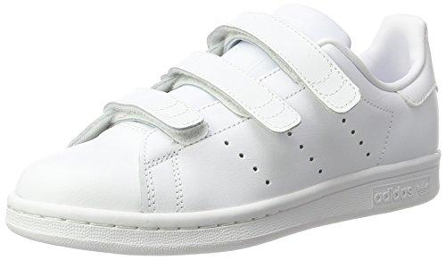 adidas S74778 Stan Smith Junior Scarpe da Ginnastica Basse Bambino, Bianco (Ftwwht/Ftwwht/Ftwwht), 36