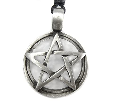 Pentagram Pentacle Gothic Pagan Wiccan Mystical Magical Pewter Pendant Necklace