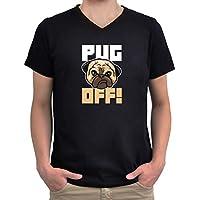 Maglietta scollo a V Pug off!