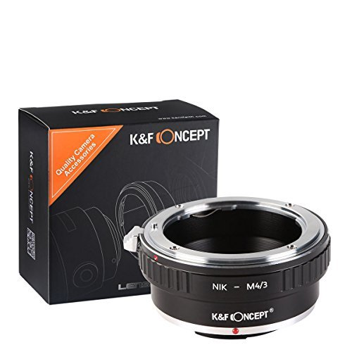 K&F Concept® Nikon - M4/3 Objektiv Mount Adapter Ring Objektiv Adapterringe für Nikon AI Objektiv Adapterringe auf Micro 4/3 M4/3 Mount Objektiv Kamera Zubehör Nikon-M4/3 GF1 GF2 GF3 G2 G3