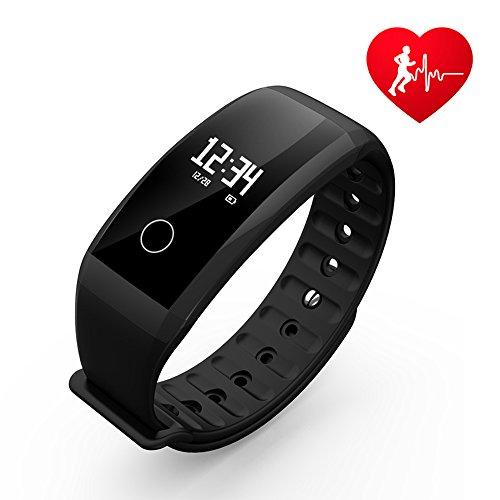 Fitness Tracker, UWATCH D2 Fitness Armbanduhr Wasserdicht Fitness Tracker HR mit Herzfrequenz / Schlafanalyse / Kalorienzähler / Aktivitäts Tracker Schrittzähler / Blutdruck und Blutsauerstoffgehaltmessung - Smart Fitness Armband Android IOS (Blutdruck Einstellen)