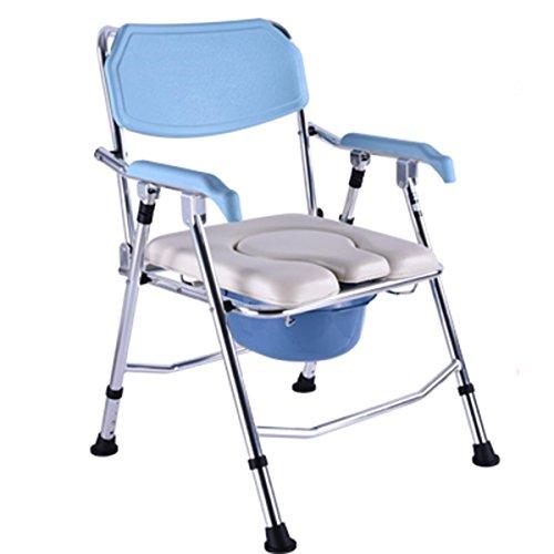SHKD Gesundheitswesen Portable Faltender alter Mann Gepolsterte Toilettensitzbewegung Toilette Schwangere Bad Stuhl Dusche Stuhl (4 höhenverstellbar) , B -