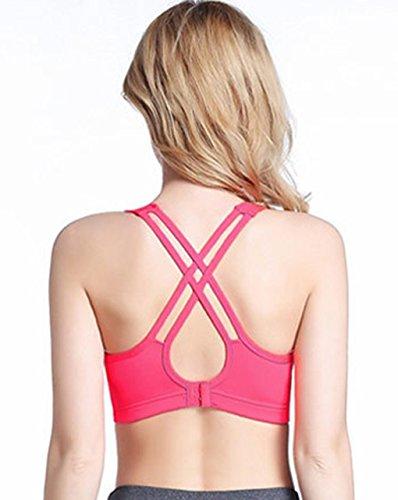 LemonGirl Damen Hoher Auswirkung Criss Cross Rücken Workout Running Yoga BH Sport BH