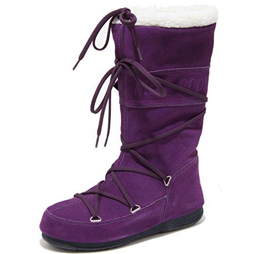0227G doposci viola MOON BOOT TECNICA W.E. BUTTER scarpa stivale donna boots sho Viola