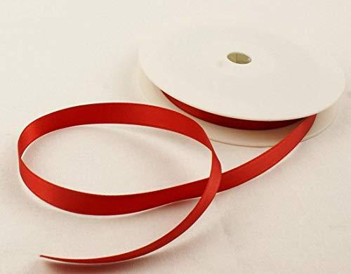 Hilai 2 Meter von 10mm Breite Doppel-Satin-Band-wählen Sie aus 22 Farben (rot)