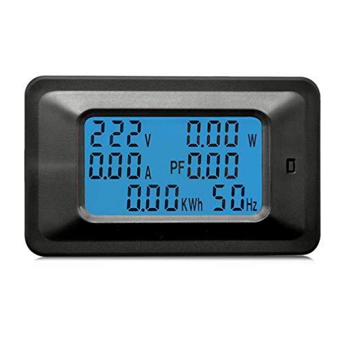 Leoboone 100A AC LCD Digital Panel Power Watt Meter Monitor Voltmeter Ammeter Voltage Current Tester for Home Appliances -