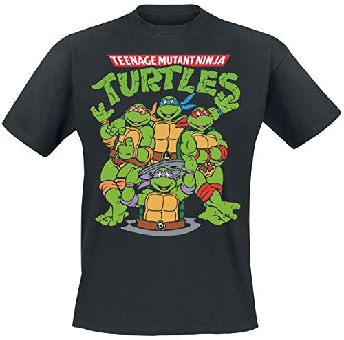 Teenage Mutant Ninja Turtles Group T-Shirt schwarz ()