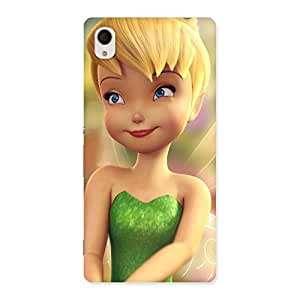 Enticing Tin Cure Girl Back Case Cover for Sony Xperia M4