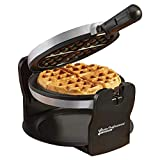 Belgian Waffle rotante di lusso rotativo ferro da stiro elettrico 180 ° con piastre di cottura rivestite antiaderenti, 920W