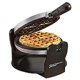 Hierro eléctrico giratorio belga Waffle Maker 180 ° con placas de cocina recubiertas antiadherentes, 920W