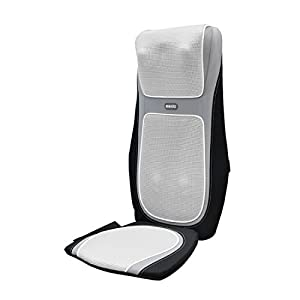HoMedics SensaTouch Shiatsu Schulter- und Rückenmassagegerät, Massageauflage mit beruhigender Wärme, obere + untere Rückenmuskulatur mit 3 Programmen, verstellbare Breite + Fernbedienung