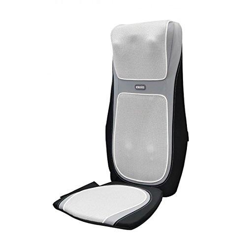 HoMedics SensaTouch Shiatsu Schulter- und Rückenmassagegerät - Massageauflage mit beruhigender Wärme, obere + untere Rückenmuskulatur mit 3 Programmen, verstellbare Breite + Fernbedienung