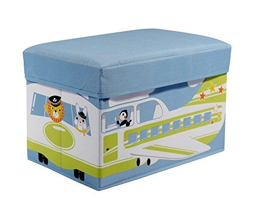 knorr-baby 88749B - Baúl infantil con asiento, diseño de aeropuerto