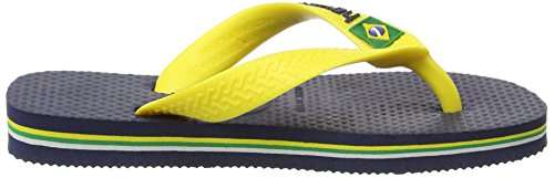 Havaianas Brasil Logo, Tongs Mixte Enfant Multicolore (Navy Blue/Citrus Yellow 3587)