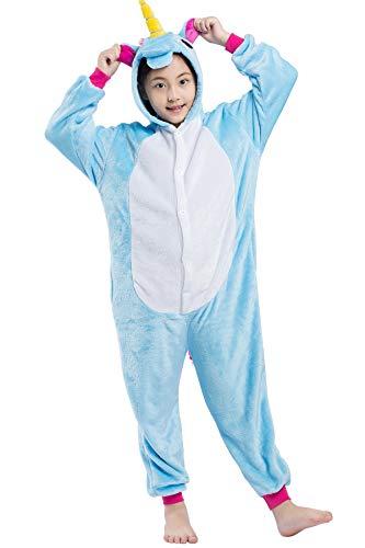 Kinder Pyjama Tier Fliegendes Pferd Cartoonstil Kigurumi Einhorn Cosplay Animal Plüsch für Unisex