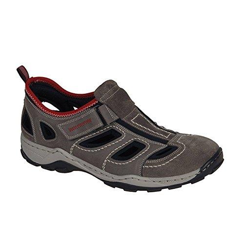 Rieker 08075 Sneakers-Men, Herren Sneakers, Braun (santos/polvere/schwarz/rosso/25), 43 EU