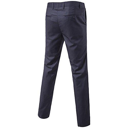 INFLATION Herren Anzughose Slim Fit Business Hose Herren Anzug Anzughose Smoking Hose mens pant 9 Farben DE Größe 28-38 Dunkelgrau