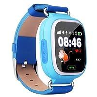 GPS Telefon Özellikli Akıllı Çocuk Takip Saati (Açık Mavi)