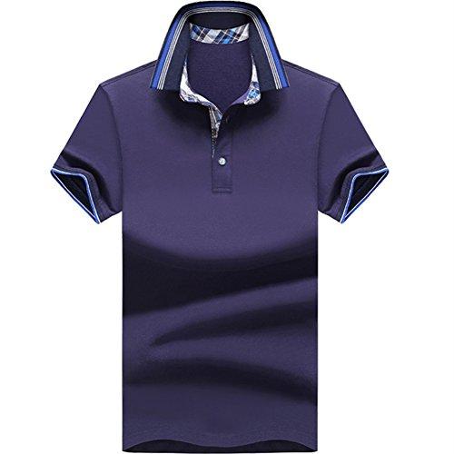 URBANFIND Herren Regul?r Einfach Gesch?ft Polo Hemds Royal Bleu