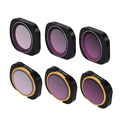 AmaSells Sunnylife DJI OSMO Pocket PTZ Kamera Zubehör ❤ Professionelle Wasserdichte 6 Stück ND4+ND8 +ND16+ND4-PL+ND8-PL+ND16-PL Magnetische Kameraobjektivfilter für DJI OSMO Pocket (A)