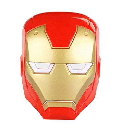 Iron Man Maske für Erwachsene und Kinder Karneval Halloween Disguise - Halloween-kostüme Für Berühmte Zeichen