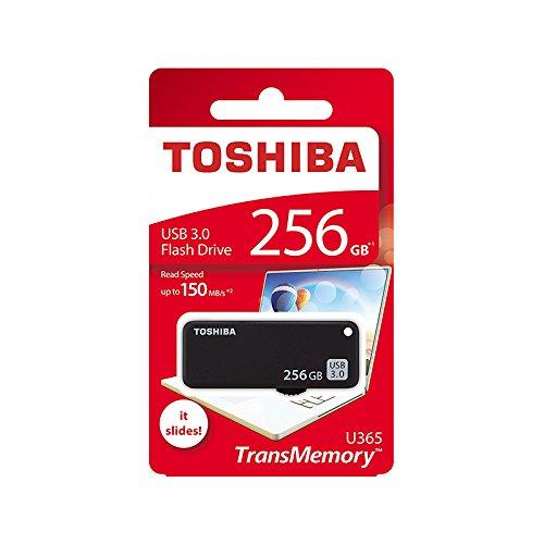 Toshiba TransMemory U365 USB 3.0 256GB Pen Drive (Black)