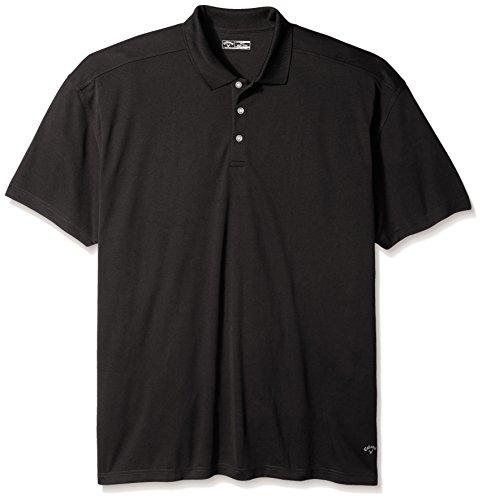 Callaway Opti-Dri Core Performance Poloshirt für Herren, kurzärmelig, Herren, schwarz, 3X-Large Performance Golf Hosen