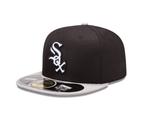 new-era-bonnet-pour-adulte-sox-casquette-de-baseball-mlb-de-chicago-era-diamond-59-fifty-fitted-noir