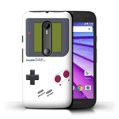Stuff4® Hülle/Case für Motorola Moto G (2015) / Weiß Muster/Videogamer/Gameboy Kollektion - Moto Gameboy Motorola G Case
