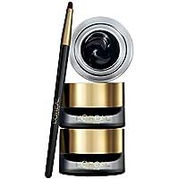 L'Oreal Paris Make-up Designer Superliner Gel Intenza, Delineador en Gel con Pincel, Color Negro - 2,8 gr