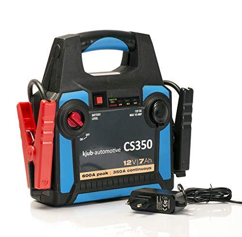 kjub CS350 Powerpack (7AH) - auch bei tiefen Temperaturen, VRLA-AGM Powerpack für kleine Benziner, Boot, Werkstatt, Camping oder Freizeit. Echte 350A und 500A Peak.