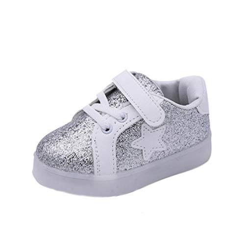 ELECTRI Mode Bébé Chaussures d'éclairage Sneakers LED Lumière Up Lumineux Baskets, Enfants Brillant Chaussures de Sport Confortable