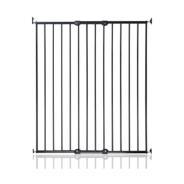 Safetots Extra Tall Screw Fitted Baby Stair Gate, Black Safetots Perfect for keeping pets and children safe Width: 62.5cm - 106.8cm Height: 103.5cm 1