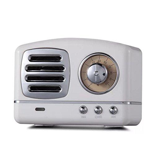 Jl Audio Auto Stereo (CCSHW Sport-Subwoofer des Retro- kreativen tragbaren drahtlosen Stereoeinfassungslautsprechers des Bluetooth-Lautsprechers helles Ausgangsauto des großen Volumens im Freien,White)