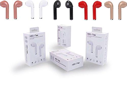 Foto de Auriculares inalámbricos y micrófono i7 TWS, de la marca HBQ, para Apple iPhone X/8/8 Plus/7/6/6s/5/5s//Android/Samsung Galaxy/HTC, color blanco