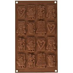 Silkomart 195796 - Molde figuritas chocholate Silikomart XMas Choco Tags