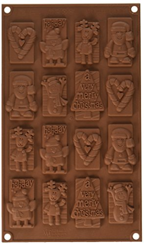 silikomart 26.146.77.0065 Stampi, Silicone, Marrone, 30x17.5x7.8 cm