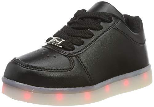 LeKuni-Zapatillas-con-Luces-LED-7-Colores-USB-Carga-Luz-Luminosas-Flash-Zapatos-de-Deporte-paraTalla-25-43-LEDDBBLACK35