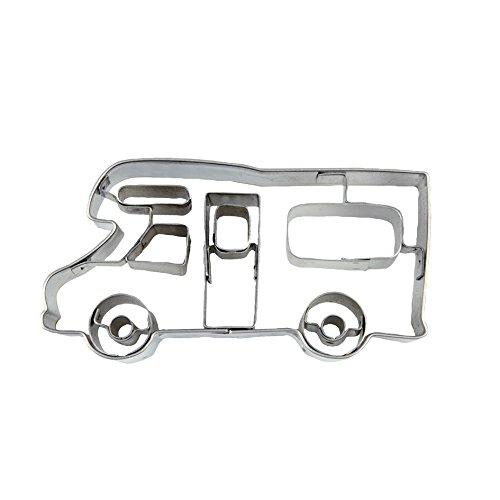 Ausstecher Wohnmobil mit Prägung 7,5 cm Edelstahl