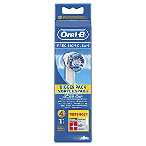 Oral-B Precision Clean Toothbrush Heads Pack of 4 Replacement Refills for Electric Rechargeable Toothbrush