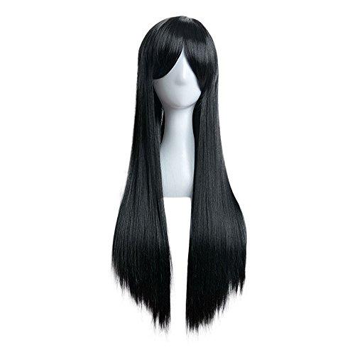 rawdah 80cm lange Gerade Perücke Cosplay Party Kostüm Haar