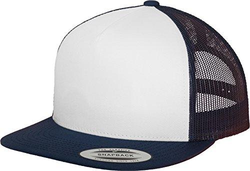 Flexfit Erwachsene Mütze Classic Trucker wht/NVY, one size Blau Mesh Trucker Cap